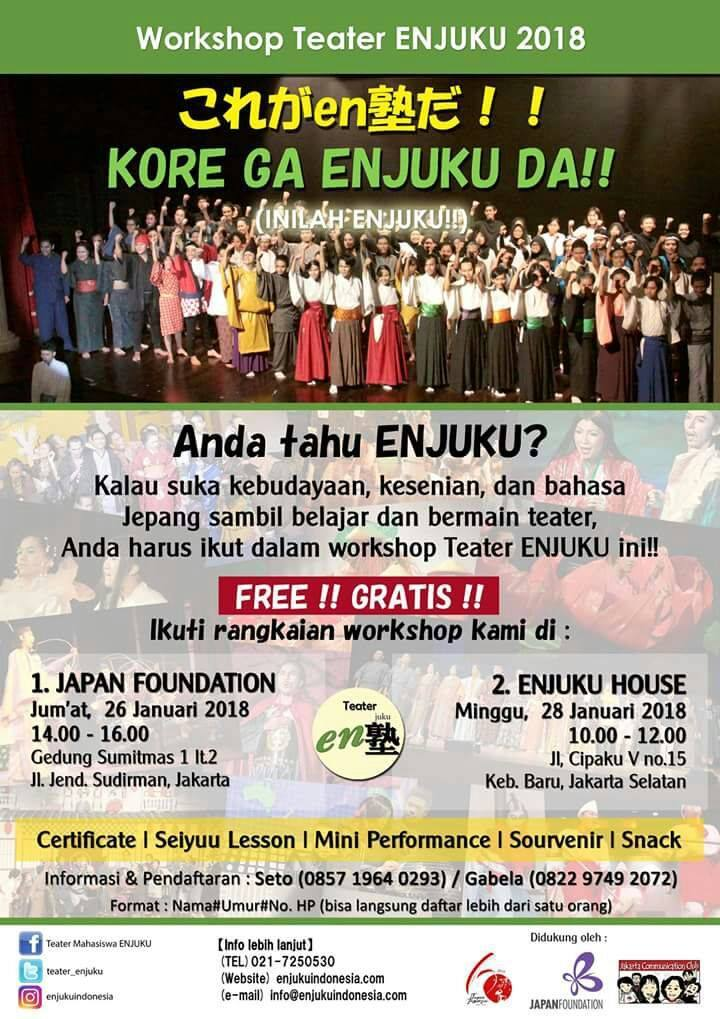 Workshop Teater ENJUKU 2018