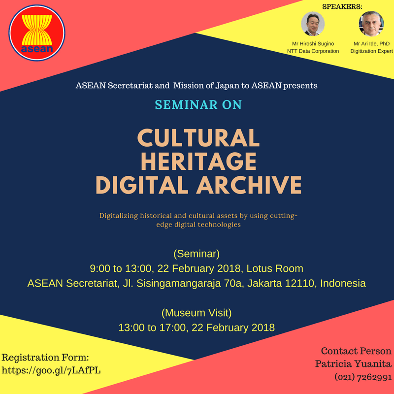 ASEAN-Japan Seminar on Cultural Heritage Digital Archive