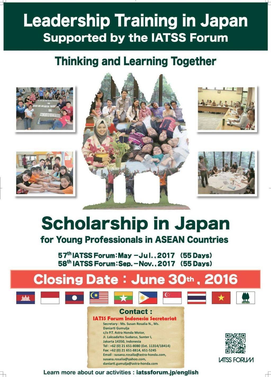 LEADERSHIP TRAINING IN JAPAN : Supported By The IATSS Forum