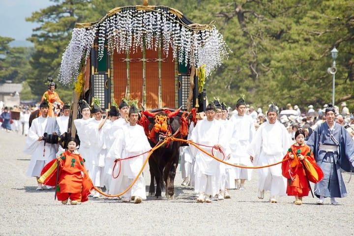 """Parade sejarah dari Periode Heian, """"Aoi Matsuri"""""""