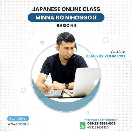 Kelas bahasa jepang reguler online Basic