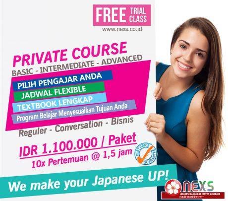 kelas privat bahasa jepang
